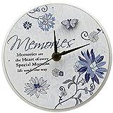 Pavilion Gift Co. Mark My Words Memories Sentiment Wanduhr, selbststehend, 15,2 cm, rund