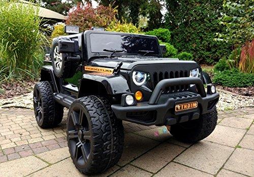 Lean Toys Coche infantil Jeep HL1668 4x4, batería negra