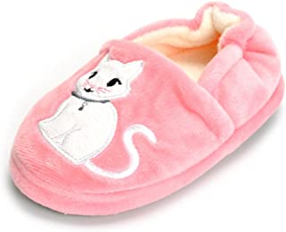 ESTAMICO Boys Girls Plush Warm Cute Bunny House Slippers Fuzzy Indoor Bedroom Shoes for Toddler Kids