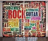 ABAKUHAUS Música Cortinas, Rock 'n' Roll Cartel, Sala de Estar Dormitorio...