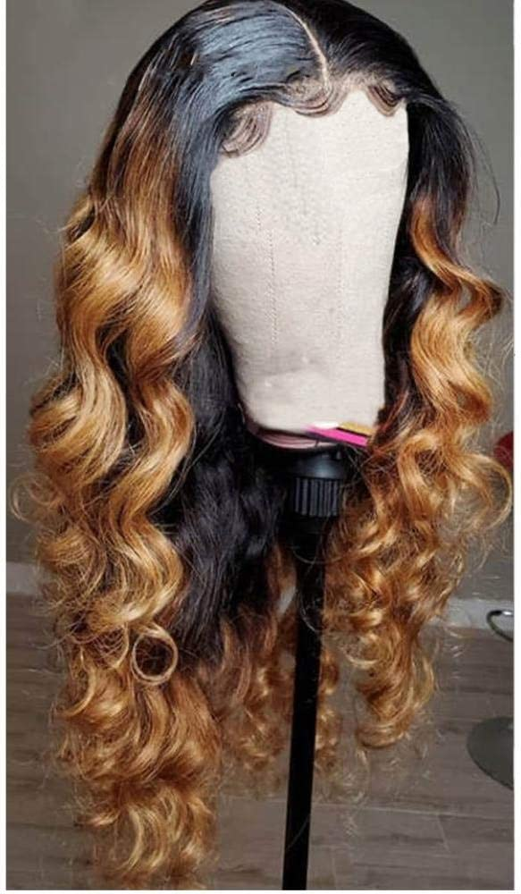Loose Wave 13X4 Lace Ranking TOP4 Front Human OFFicial shop Hair Kn Women Bleached Wigs for