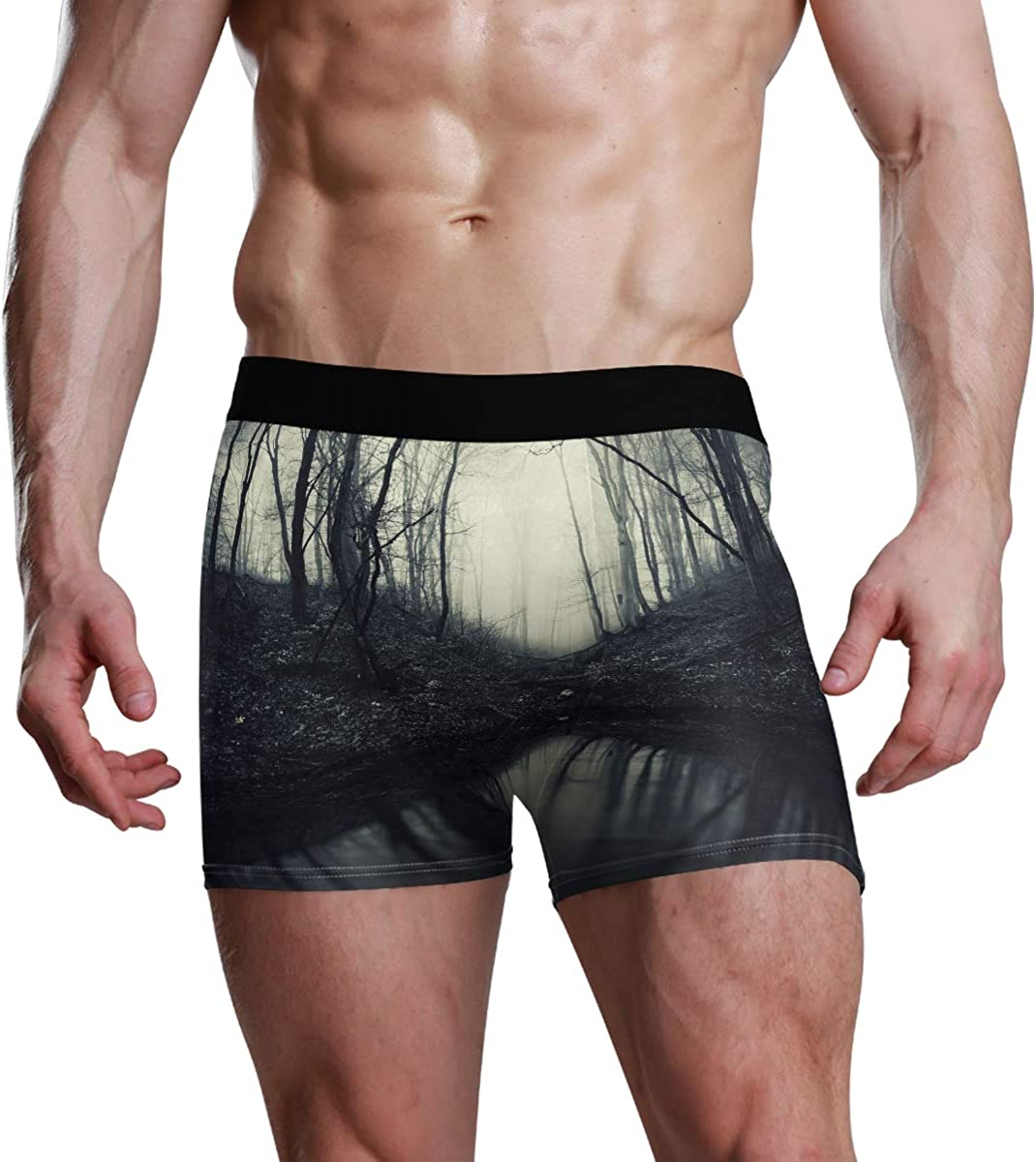 Mens Underwear Boxers Forest Reflection in Dark Water ComfortSoft Boxer Briefs Breathable Bikini
