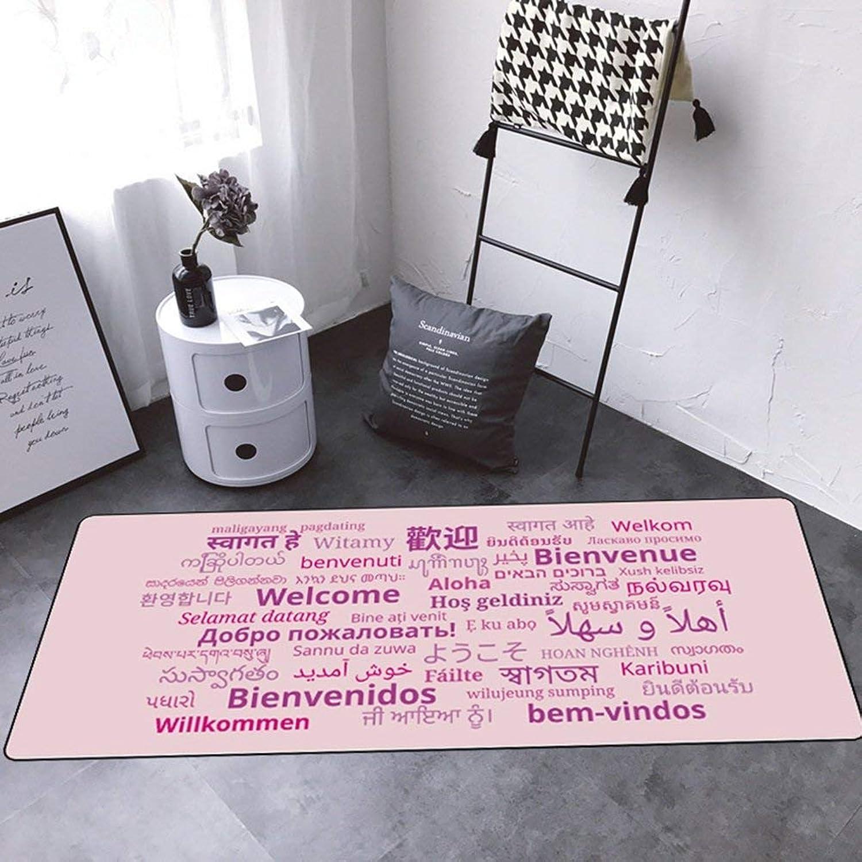 Ahorre 35% - 70% de descuento YHEGV Alfombras, Felpudo Cuarto de casillero, Sala, Sala, Sala, Sala, Restaurante, Mesa de té, alfombras, Antideslizante, a Prueba de Humedad, alfombras, alfombras para Ventanas, fácil de Limpiar, Longitud 45  venderse como panqueques