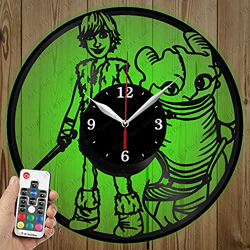 Vinilo Como Entrenar A Tu Dragon  marca Vinyl Clock