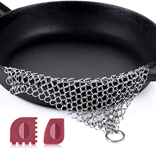 "Amagabeli Stainless Steel Cast Iron Cleaner 8""x6"" 316L..."