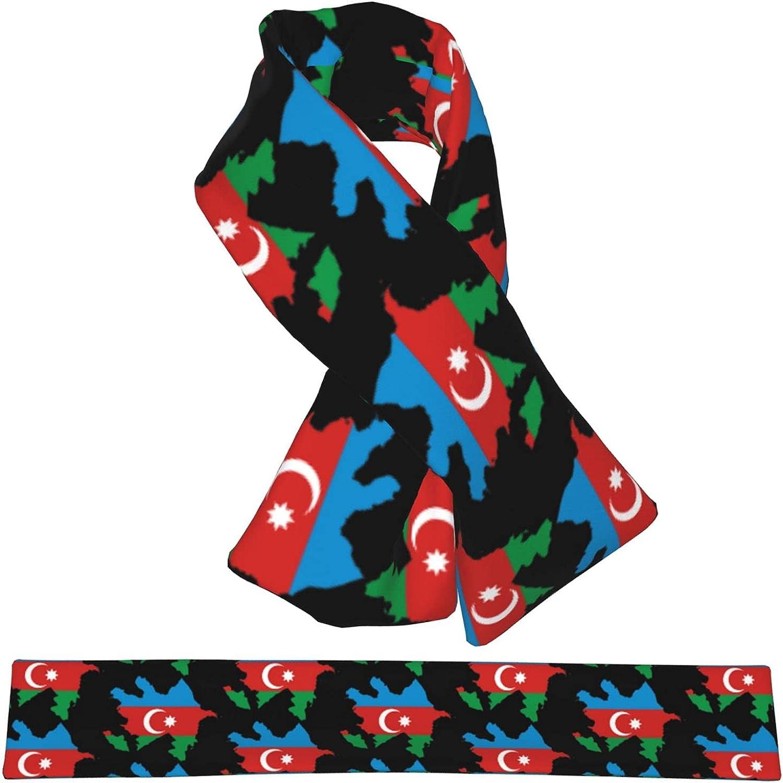 Azerbaijan Flag Map Flannel Cross Collar Wrap trust Shawl W Neck Seattle Mall Scarf