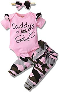 3PCS Newborn Baby Girls Clothes Infant Fall Outfit,Romper...