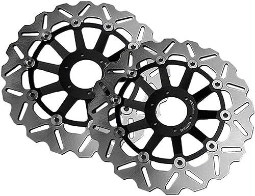 Mallofusa Motorcycle Front Brake Disc Rotors 10 Holes Compatible for Honda CBR 600 F3 1995-1998 CB 600 HORNET 2000-2006 RVF400 1994-1996 CBR 900 RR 1994-1997 Black