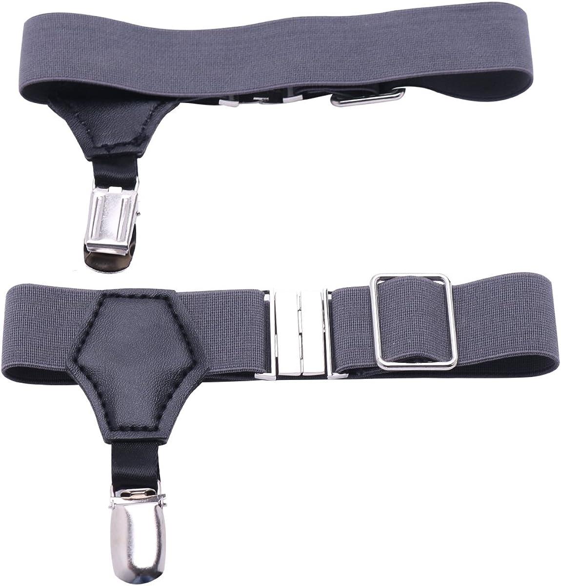 CHICTRY Men's Adjustable Sock Garters Belt Suspender Non-slip Metal Clips Accessories
