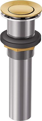 wholesale Moen 140780BG lowest Bathroom Vessel Sink Pop-Up Drain Assembly, Brushed online Gold sale