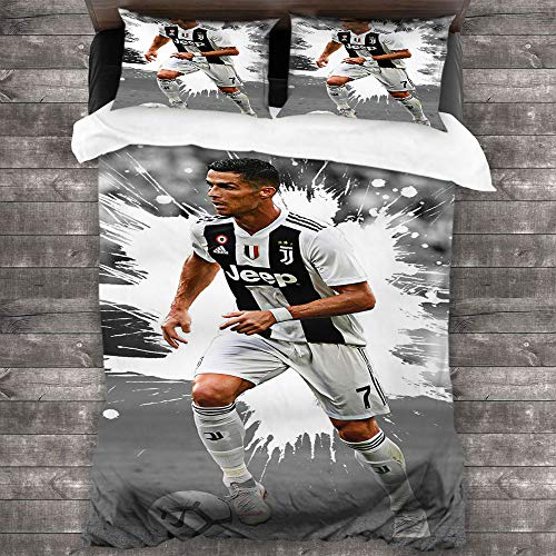 Find Discount 4pcs Bedding Set King Size Sheets Sheets Full Set Cristiano Ronaldo Joins Serie A Boys and Girls W80 xL90