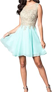Short Homecoming Dress with Jewel Embellished Sheer Bodice