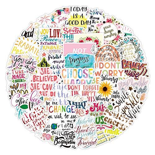 BLOUR 10/50 Uds, Frases Inspiradoras en inglés, Pegatinas de Graffiti, Maleta Impermeable, portátil, Scooter, Nevera, Taza de Agua, Pegatinas