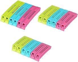 VOLTAC Multipurpose Food Snack Plastic Bag Clip Sealer/Packet Sealer Clamps/Manual Vacuum Bag Sealer/Food Pouch Clip/Bag Zipper for Home Kitchen (Multicolor) -18 pcs