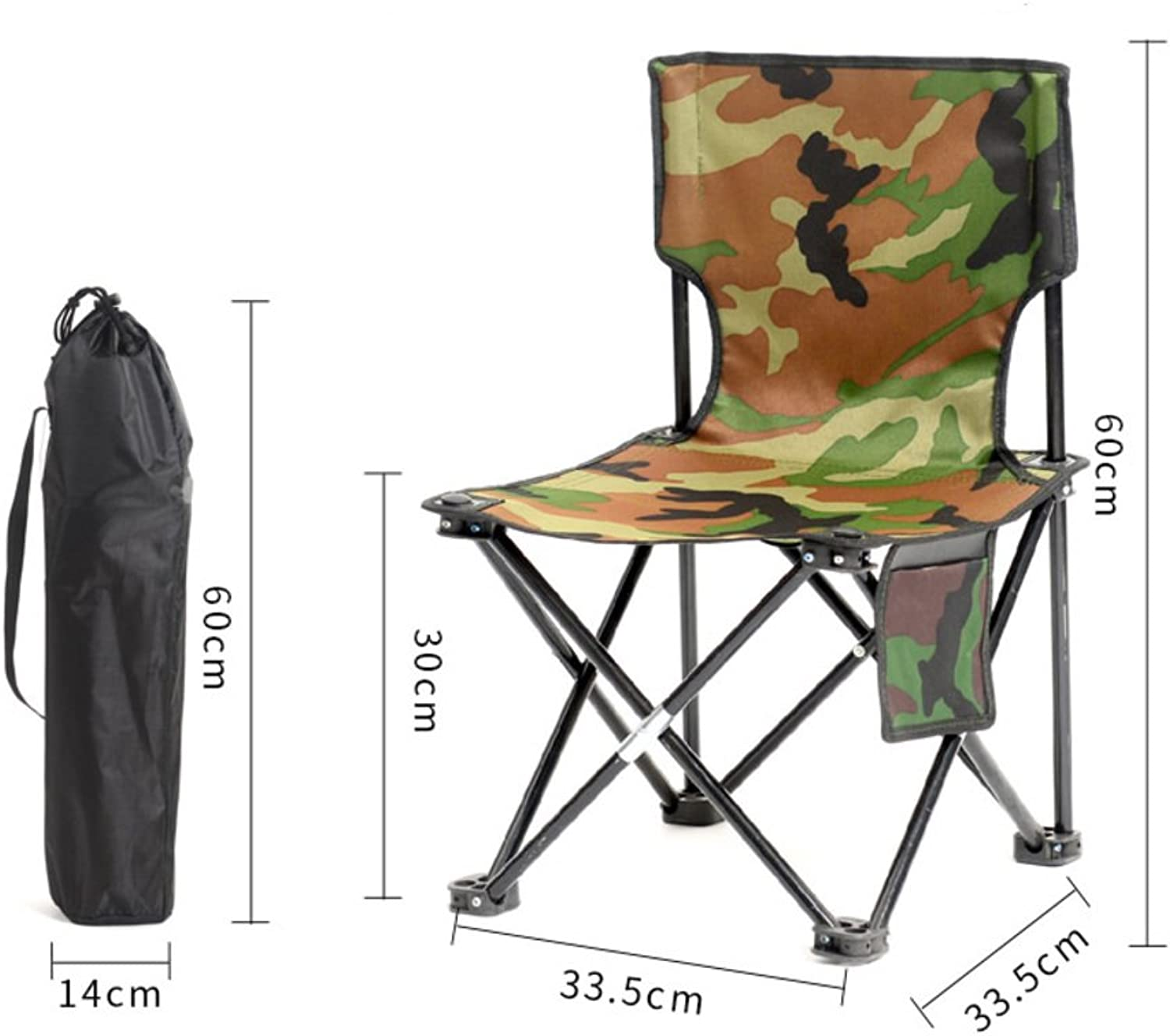 Outdoor Folding Chair, Portable Camping Beach Fishing Chair Sketch Chair Mazar Small Chair Folding StoolD