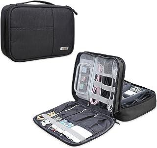 BUBM Organizador para Eléctronica Estuche para iPad Bolsa de Cables Funda de Bantería Extra(Medio,Negro)
