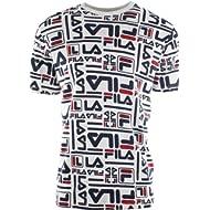 Fila Men's Charlie All Over Logo Print T-Shirt