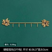 WANDOM Europese stijl retro lichte luxe decoratieve haken creatieve muurhaken bij de deur (5 haken)