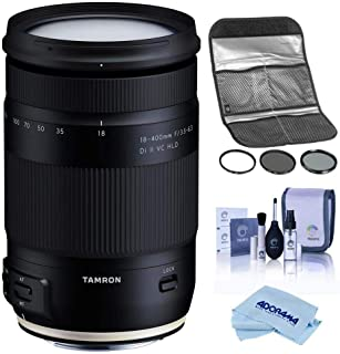 Tamron 18-400mm f/3.5-6.3 Di II VC HLD Lens for Nikon F - Bundle with Hoya 72MM Digital Filter Kit II (UV/CPL/ND8x), Clean...
