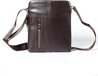 Shoulder Bags Genuine Leather Crossbody Bag Casual Men Cowhide Diagonal Package Brown Square Bag 3L Men's Bag Work Package Business Leather Bag