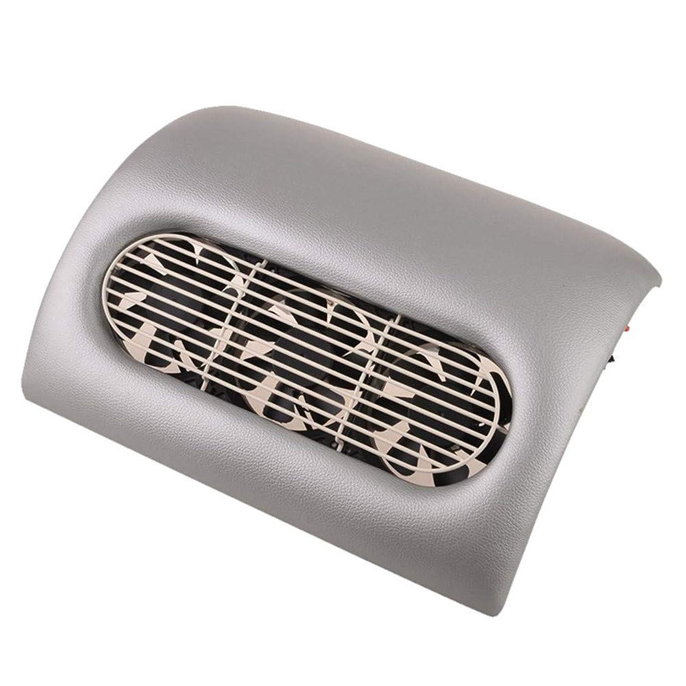 心臓懇願する反論15ワットネイルダストサクションクリーナー美容院機器コレクターサクションネイルツールアートマニキュア機クリーニング装置、グレー