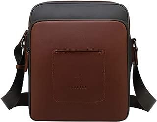 CUIBIRD Umhängetasche Herren Klein Leder Lässig Crossbody Tasche Mini Männer Canvas Messenger Bag IPAD Herrentasche Schultertaschen (Klein)