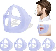 [5 PCS]3D Face Bracket,Face Inner Support Frame for Comfortable Wearing,Washable and Reusable Translucent Internal Support...