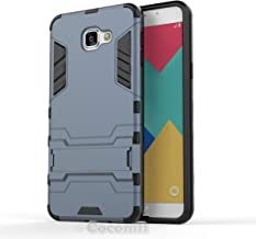 Cocomii Iron Man Armor Galaxy A9/A9 Pro Case New [Heavy Duty] Premium Tactical Grip Kickstand Shockproof Bumper [Military Defender] Full Body Dual Layer Rugged Cover for Samsung Galaxy A9 (I.Black)
