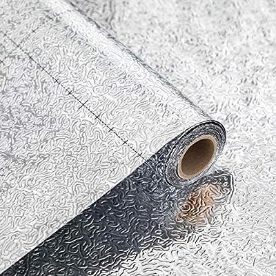 Coavas Kitchen Wall Paper Oil Proof Sticker Bac...