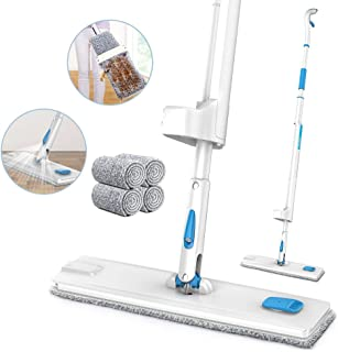 Spray Mop, JASHEN Self Wringing Microfiber Mop Flat Floor Mop Kit with 4 Reusable Pads, 360 Degree Spin Dry and Wet Cleaning Mop for Hardwood Floor, Laminate, Wood, Tile