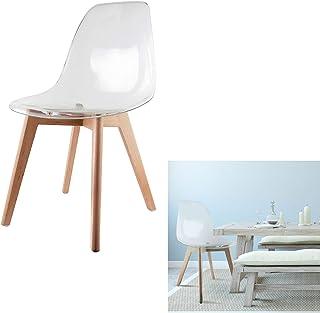 Silla escandinava–asiento transparente