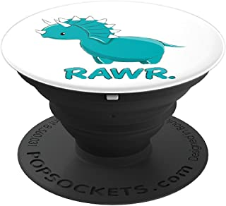 RAWR cute dinosaur triceratops - PopSockets Grip and Stand for Phones and Tablets