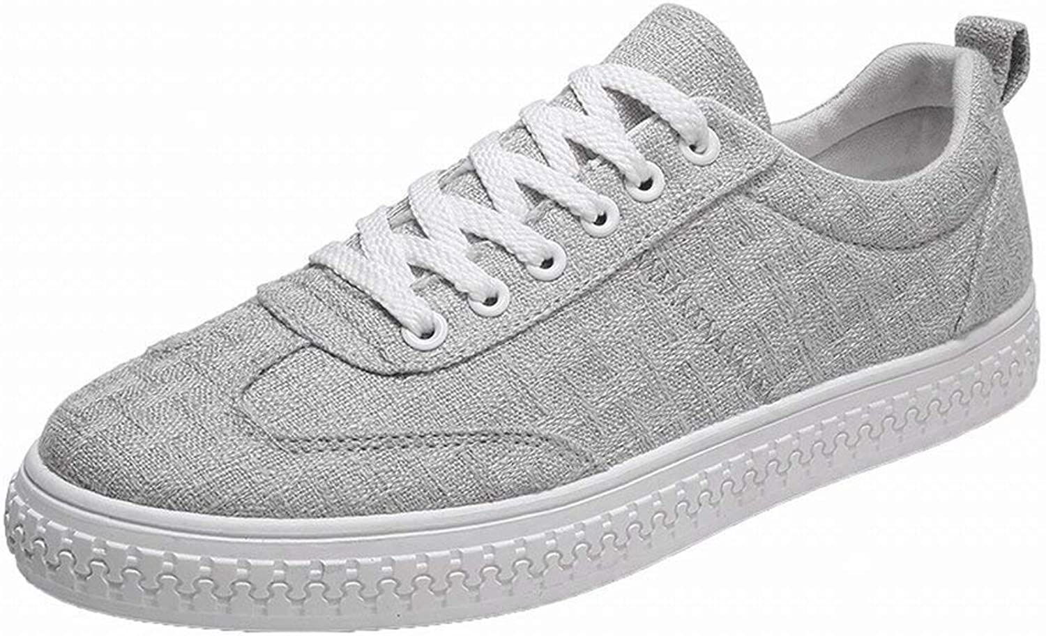 Oudan Fashion Trend Canvas Canvas shoes Comfortable Breathable Casual All-match Men's shoes (color   Light grey, Size   41)