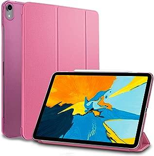 MS factory iPad Pro 11 2018 ケース カバー アイパッド プロ 11インチ Apple Pencil ワイヤレス充電 対応 ipadpro 第1世代 Pro11 スマートカバー オートスリープ 全10色 ピンク IPDP11-SMART-PK