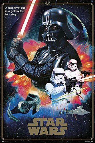 Star Wars Episode Iv A New Hope Movie Poster Print 40th Anniversary Collage The Villains Darth Vader Stormtroopers Size 24 Inches X 36 Inches Buy Online In