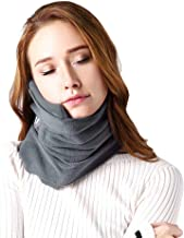 SAKEYR Neck Support Travel Pillows for Airplanes Soft Comfortable Travel Neck Pillow Scarf for Unisex Men Women Kids Airplane Sleep Pillow with Adjustable Strap-Machine Washable (Grey)