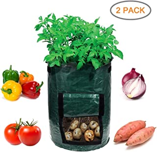 Garden4Ever Potato Planter Bags 2-Pack 10 Gallon Grow Bags Aeration Tomato Plant Pots with Flap and Handles ¡