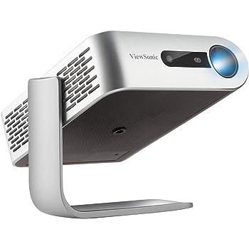 ViewSonic M1 Vidéoprojecteur Ultraportable WVGA 854x480 Pixels LED 250 lumens, image jusqu'à 100'', HDMI, Haut-Parleurs Harman Kardon, batterie