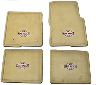 Oem Factory Stock Genuine 2011 2012 2013 2014 Ford F-150 F150 King Ranch Tan Brown Carpet Floor Mats Set 4-pc Front & Rear