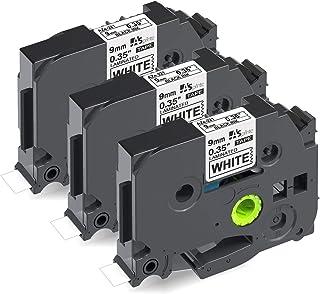 9mm 白テープ 黒文字 互換 ブラザー ピータッチ Brother ラミネート テープカートリッジ TZe-221 TZe221 tzeテープ 3個セット ASprinte