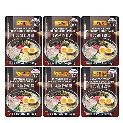 Lee Kum Kee Japanese Style Pork Bone Soup Base 李锦记日式猪骨浓汤 7 Oz (Pack of 6)