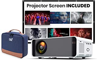 [Wireless Projector] EDGE LE7 PRO 4500 Lumens LED Portable Video Projector with 170' Display, DLNA ,WIFI,Support 1080P, HD...