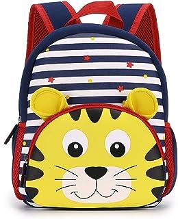 Hipiwe Toddler Backpack for Little Kids Water Resistance Kindergarten Preschool Bags Neoprene Children Schoolbag Cute Anim...