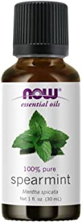 NOW Essential Oils, Spearmint Oil, Stimulating Aromatherapy Scent, Steam Distilled, 100% Pure, Vegan, Child Resistant Cap,...