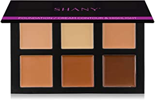 SHANY 4-Layer Contour and Highlight Makeup Kit - Set of Concealer/Colour Corrector, Foundation, Contour/Highlight, and Blu...