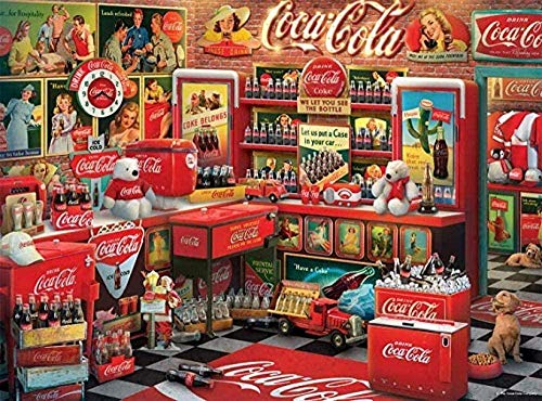 LDTSWES® Kids Adult 1000 Piece Vintage Coca-Cola - Rompecabezas