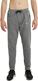 TBMPOY Men's Running Pants Athletic Sweatpants with Zipper Pockets