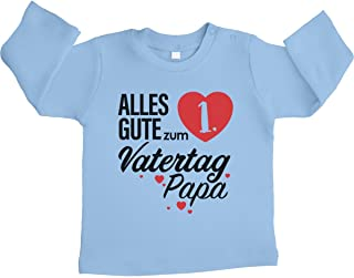 Shirtgeil Vatertagsgeschenk Alles Gute zum 1. Vatertag Unisex Baby Langarmshirt