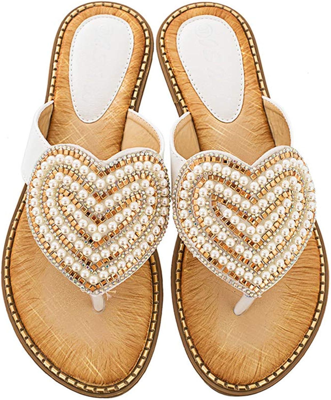 Navoku Womens Jeweled Stylish Flip Flops Sandles Thong Sandals