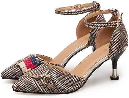 HAOBAO Femmes Pointues Chaussures Printemps été Mode Célébrité Vent Haute Talons Femmes Stiletto Femmes Chaussures 34-38